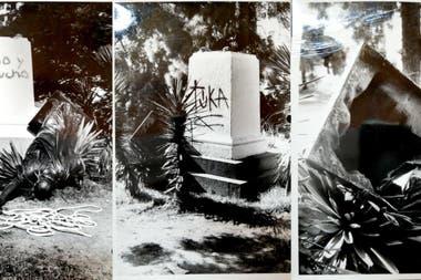 En 1986 sufrió un atentado: la rompieron y desplazaron del pedestal