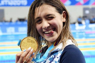 Toda la frescura de Delfina Pignatiello, que ganó en las tres distancias que compitió en Lima 2019