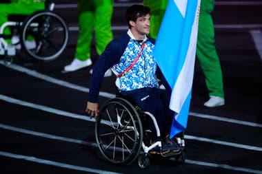 Gusti Fernández fue abanderado argentinos en los últimos Juegos Parapanamericanos de Lima.