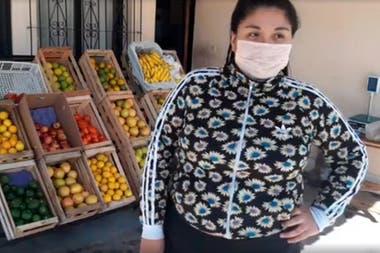 Ana Paula es salteña y decidió invertir el dinero del ingreso familiar que otorga el Gobierno en un negocio propio en su casa