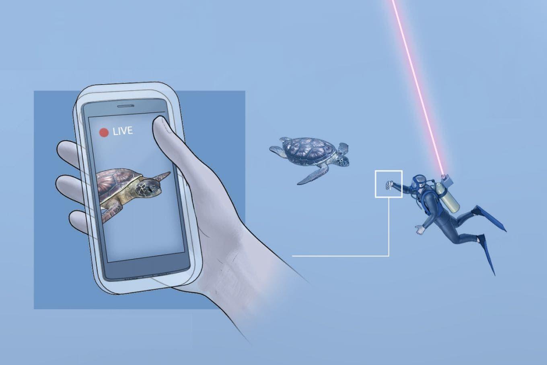 Aqua-Fi, el sistema de Wi-Fi submarino que utiliza LEDs y láseres para enviar información