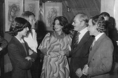 Sergio Nacif Cabrera (Izq) y Homero Expósito (de lentes), en 1976