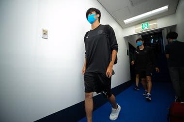 En vestuarios: los jugadores de Kawasaki Frontale