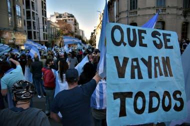 Los manifestantes por el 11S en la ciudad de Córdoba