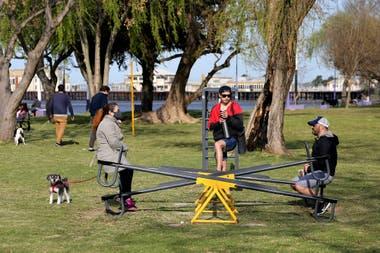 Un encuentro en los juegos de la rivera de Quilmes