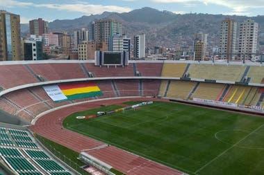El estadio Hernando Siles, en La Paz, aguarda por los equipos; no habrá público en Bolivia-Argentina