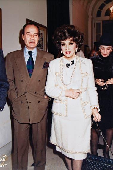 Junto a la actriz Gina Lollobrigida