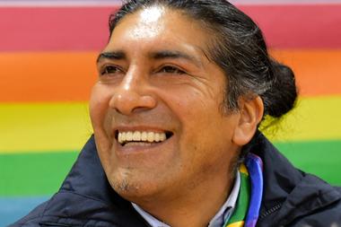 El líder indígena y candidato a la presidencia de Ecuador Yaku Pérez