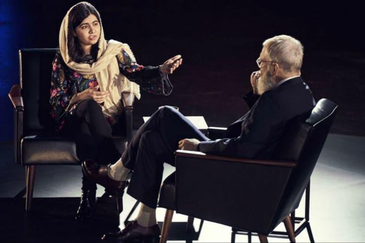No necesitan presentación con David Letterman: Malala Yousafzai