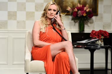 "Stormy Daniel estuvo en ""Saturday Night Live"" y causó revuelo"