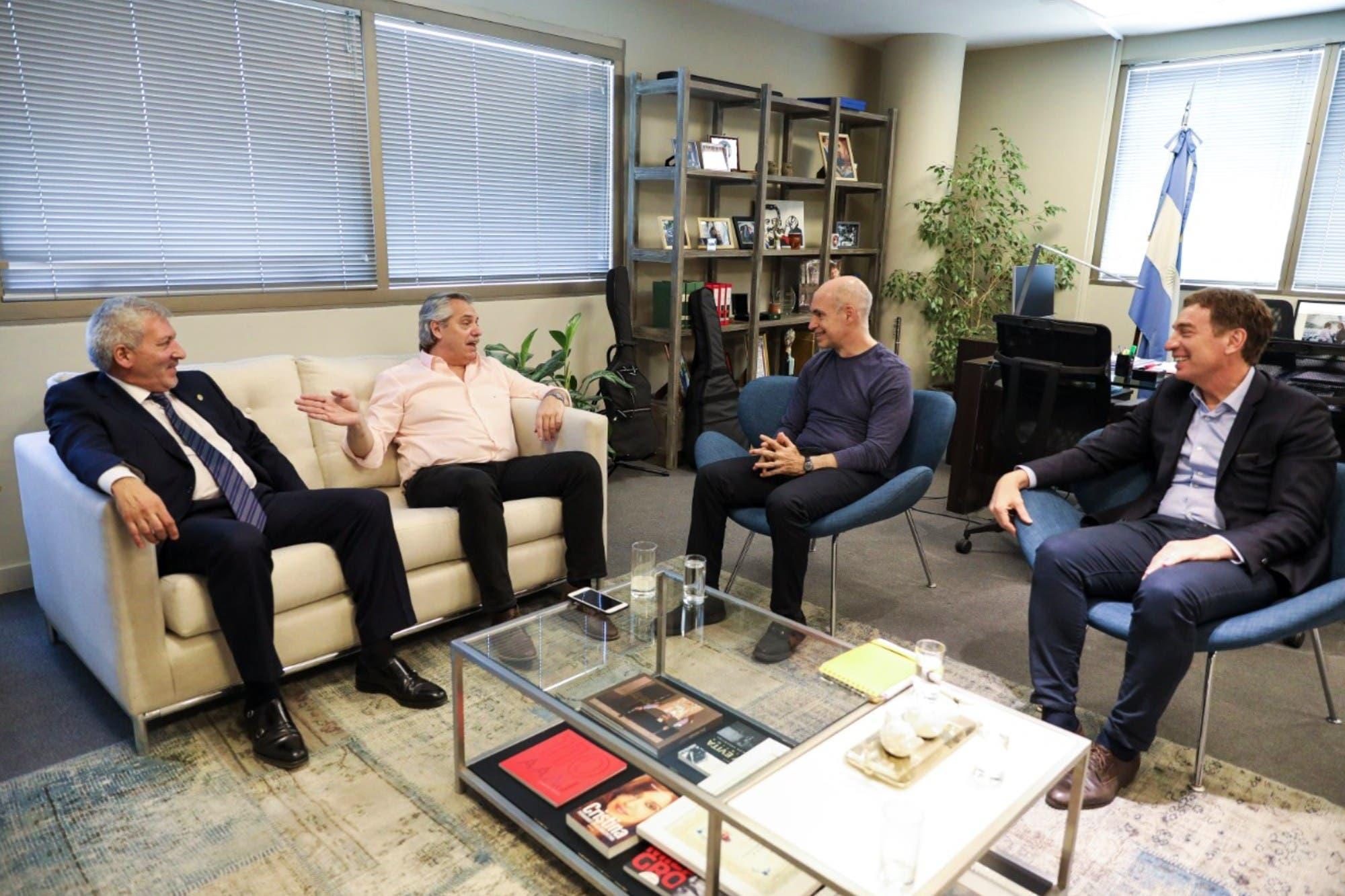 Horacio Rodríguez Larreta y Diego Santilli se reunieron con Alberto Fernández - LA NACION