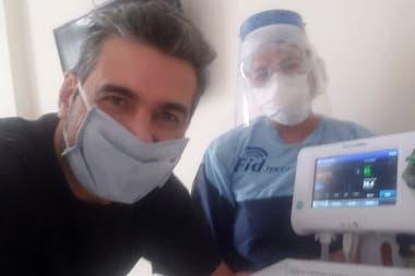 Herna Chiozza, poco tiempo antes de dejar la clínica