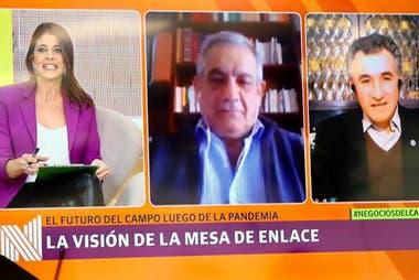 Según destacó Carlos Achetoni (derecha), la baja en las retenciones son una materia pendiente para la Mesa de Enlace