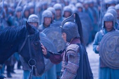 Zhao Wei interpreto el papel principal en Hua Mulan, de 2009
