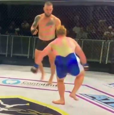 MMA: Dean Maxwell sufrió la fractura de tibia y peroné por una patada