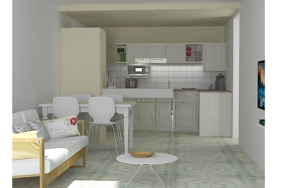 Soluci n 186 claves para decorar una cocina con comedor - Cocina comedor integrados ...
