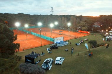 Las canchas del Tennis Ranch de Pinamar donde se jugaron, entre marzo y abril, tres ITF World Tennis Tour (ex Futures)
