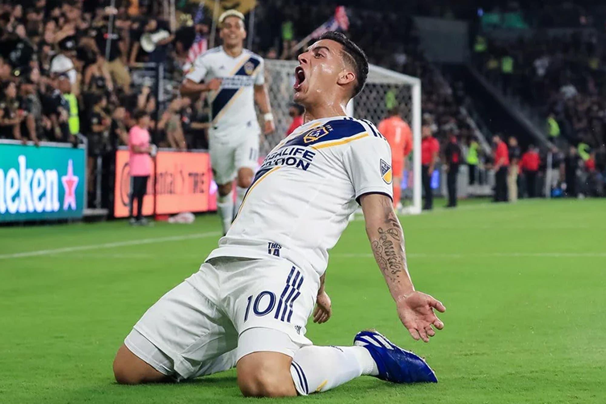El mejor Pavón: asistencia y primer gol en el clásico de Los Angeles