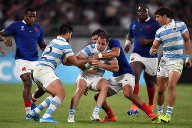 Los Pumas contra los franceses en el Mundial de Rugby de Japón