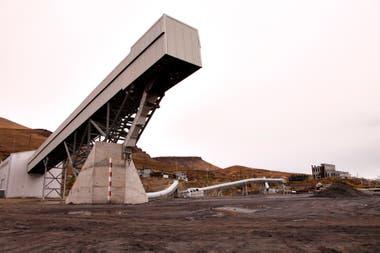 Cintas transportadoras de carbón, en la mina de YCRT