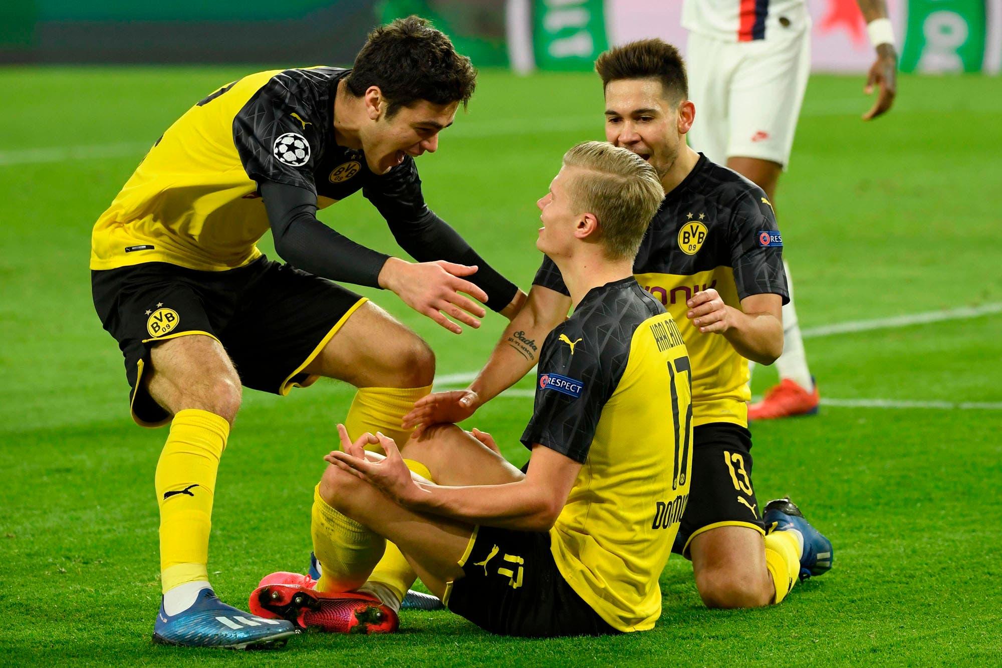 Borussia Dortmund-PSG: con dos goles de Haaland, los alemanes ganaron 2-1 en la ida de octavos de la Champions League