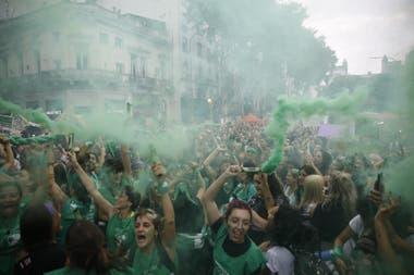 El lunes hubo movilizaciones a favor del proyecto de legalización
