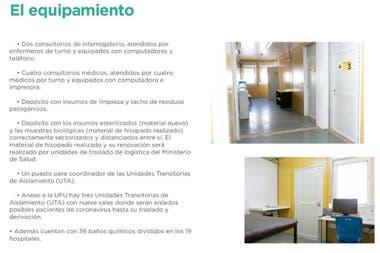 En los UFU hay diferentes tipos de consultorios segn los cuadros de las personas que ingresen