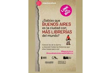 Flyer de la campaña de Fundación El Libro, la CAL y el Ministerio de Cultura porteño
