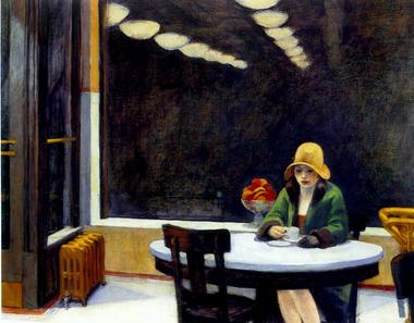 """""""Automat"""", otra famosa escena de las soledades que pintó Hopper"""