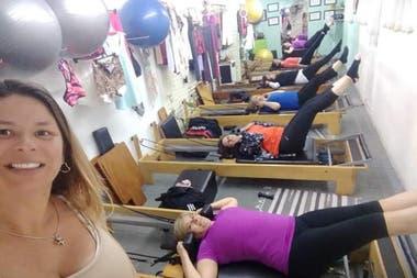 María Rosa Ball, cuando su centro de pilates funcionaba a pleno