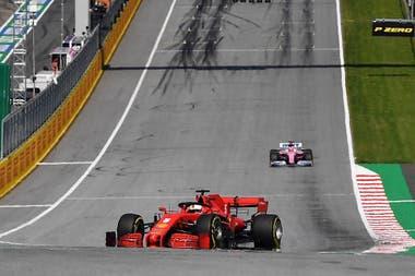 Los problemas de Sebastian Vettel (Ferrari) en las pruebas de hoy en Austria