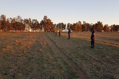 El rastrillaje se realiza desde la salida hasta la puesta del sol