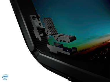 La bisagra de la Lenovo X1 Fold que permite plegar la pantalla como un libro sin dañarla