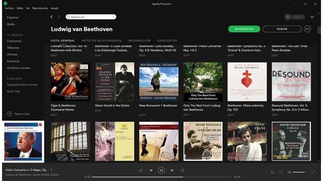 Un vistazo al catálogo de Beethoven; hay centenares de álbumes
