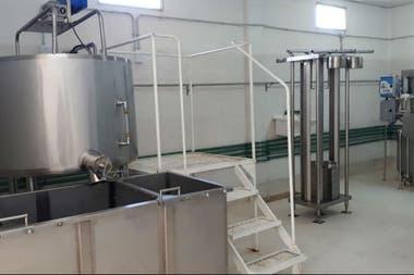 Parte del equipo de la planta láctea en Ceres, Santa Fe