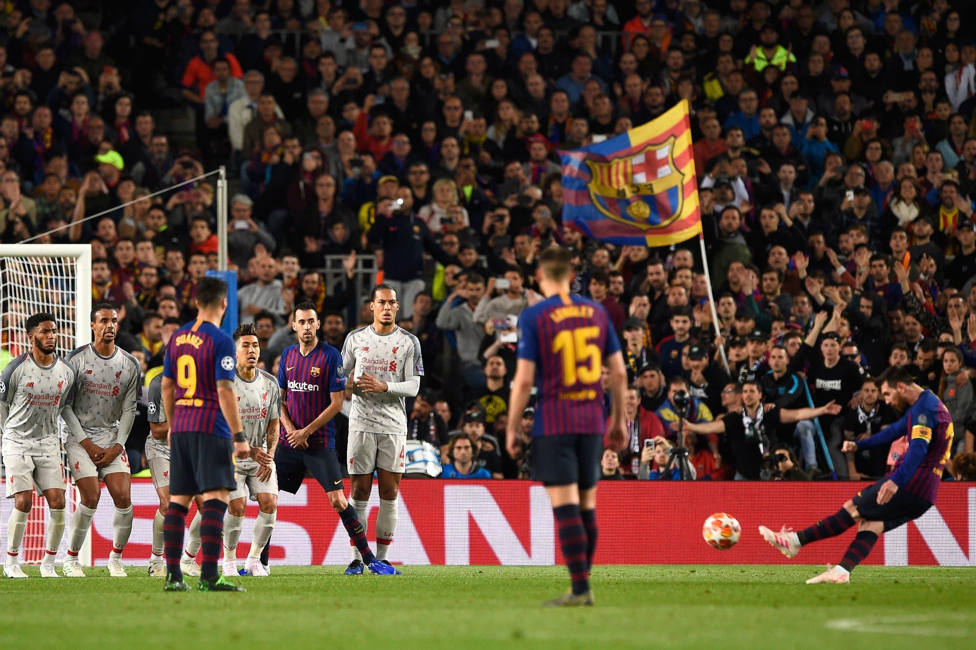 Barcelona-Liverpool: el mejor ángulo para ver el gol de Messi y los videos de los hinchas