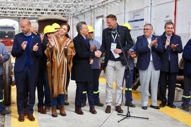 El Presidente estuvo con la gobernadora de la Provincia en la pequeña localidad de Mechita por el arranque de obras con inversión de la empresa rusa THM, el 22 de mayo