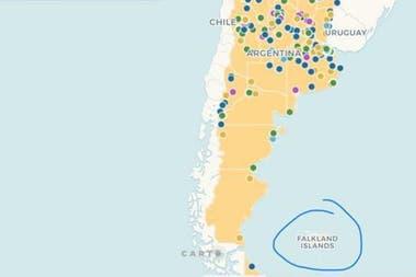 Polemica Por La Publicacion De Un Mapa De La Secretaria De Cultura Donde Las Malvinas Aparecen Como Falkland La Nacion