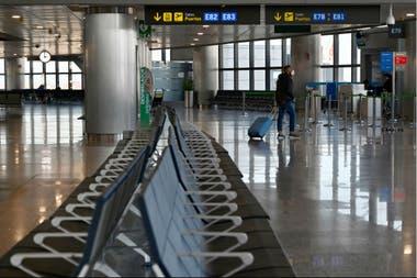 El aeropuerto de Barajas, en Madrid, tuvo una merma en su actividad por la pandemia