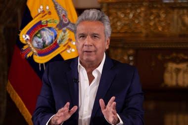 El presidente ecuatoriano, Lenín Moreno, en uno de los países con mayores índices de infección y de muertes por coronavirus