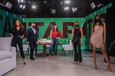 El equipo de Pampita Online en el primer programa tras el parate de tres meses
