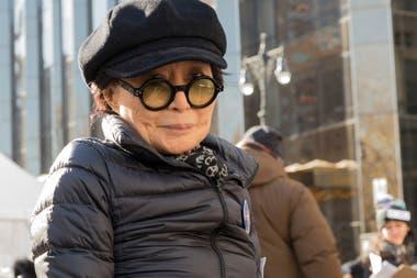 Yoko Ono participó de la Marcha de las Mujeres, en el Central Park neoyorkino, en enero de 2018