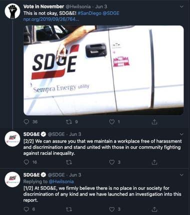 Imagen de Cafferty y su supuesto gesto en el vehículo de la empresa que fue compartida por un usuario en Twitter