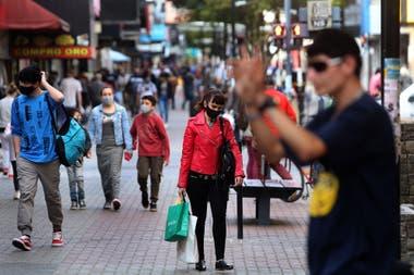 La peatonal de la ciudad de Quilmes