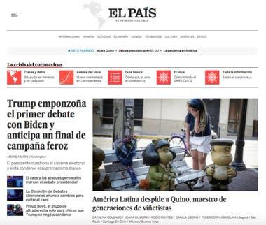 El diario El País, de España