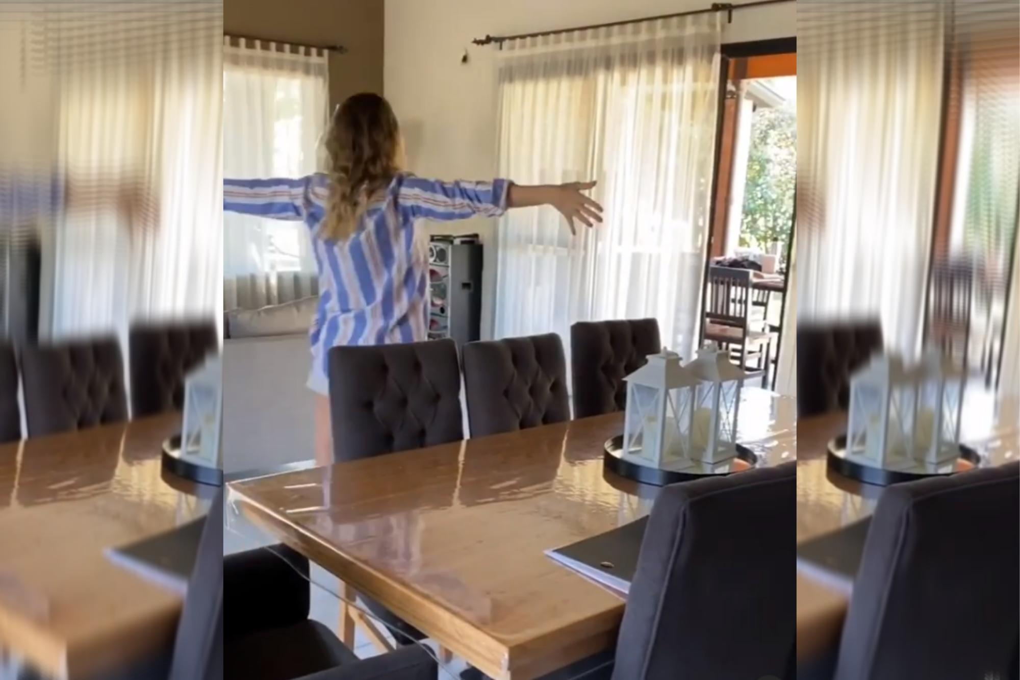 Micaela Viciconte y Fabián Cubero mostraron su espectacular casa nueva en un country