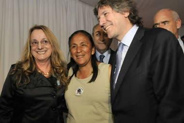 Alicia Kirchner, Milagro Sala y Amado Boudou