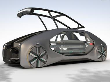 Concept en estado puro. Con el EZ Go Renault se puso a la vanguardia del diseño conceptual con un auto que rompe las convenciones y que incluye un muy particular layout interno