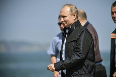 El presidente ruso, en la inauguración