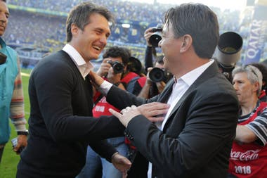 Guillermo Barros Schelotto y Marcelo Gallardo
